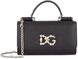 Dolce & Gabbana Leather Sicily Von Cross Body Bag