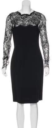Emilio Pucci Lace-Accented Sheath Dress