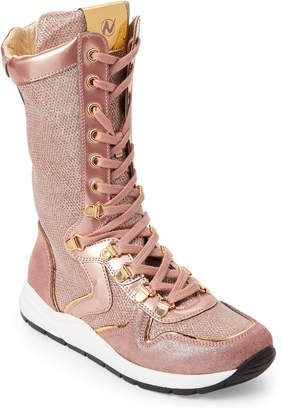 Naturino Toddler/Kids Girls) Pink Glitter Ultra High-Top Sneakers