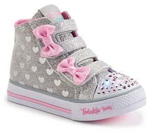 Skechers Twinkle Toes Shuffles Doodle Day Toddler Girls' Light-Up Shoes $49.99 thestylecure.com