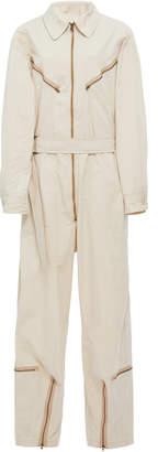 Tre by Natalie Ratabesi Pigalle Zippered Wide-Leg Cotton-Poplin Jumpsuit