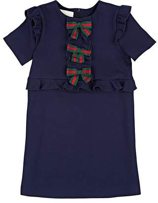 Gucci Kids' Bow-Appliquéd Jersey Dress