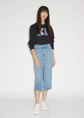 a72e8545cf Pswl Slit Front Stretch Denim Skirt