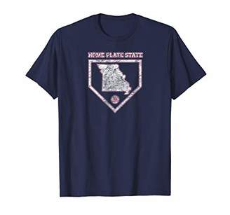 Missouri Home Plate State Baseball T-shirt