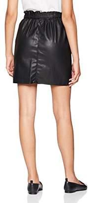 Only Women's Onlrigie Hw Pu Paper Bag PNT Skirt,12 (Manufacturer Size: )