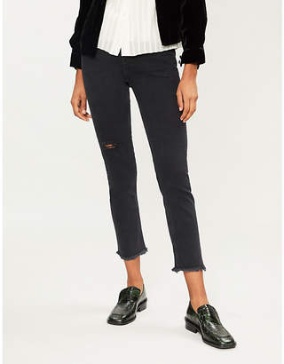 Sandro Opera high-rise skinny stretch-denim jeans