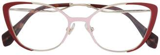 Miu Miu curved cat-eye glasses