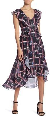 Parker V-Neck Ruffle Dress