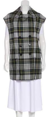 Dries Van Noten Double-Breasted Plaid Vest
