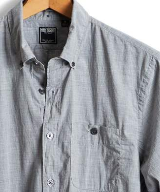 Todd Snyder Slim Fit Melange Button Down Shirt in Grey