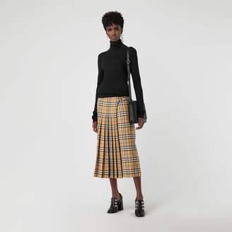 Burberry Vintage Check Wool Kilt , Size: 06, Yellow