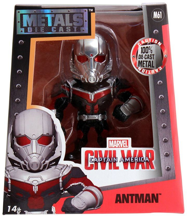 "Captain America: Civil War Antman Die Cast Metals 4"" Figure"