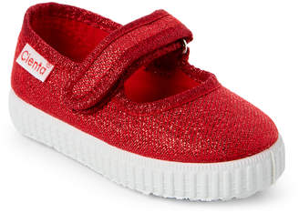 Cienta Toddler/Kids Girls) Red Sparkle Ean Mary Jane Sneakers