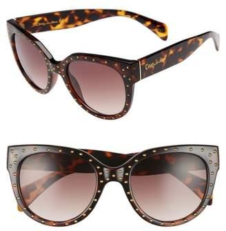 Sam Edelman 53mm Studded Cat Eye Sunglasses