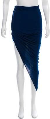 Helmut Lang Asymmetrical Wool Skirt