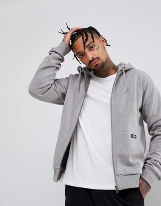 Dickies Kingsley Zip Through Hoodie With Logo In Grey