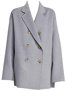 Acne Studios Women's Odine Double-Breasted Wool& Cashmere Peacoat
