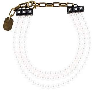 Lanvin Triple Stand Faux Pearl Necklace