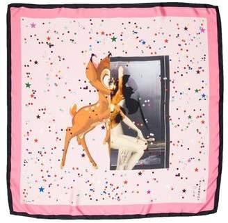 Givenchy Bambi Print Silk Scarf