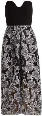 Roland Mouret Amesbury viscose bustier dress