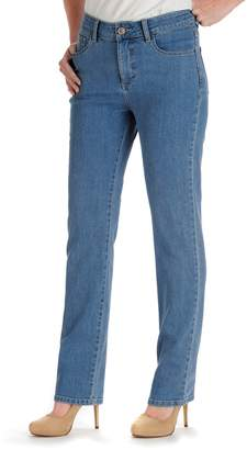 Lee Petite Monroe Classic Fit High Waisted Straight-Leg Jeans