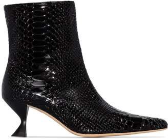 Kalda Silex 45mm snakeskin-effect boots
