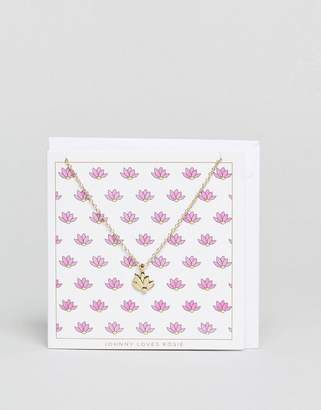 Johnny Loves Rosie Lotus Giftcard Necklace