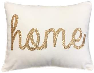 Marlo Lorenz Thro By Thro by Sequin Cursive Throw Pillow