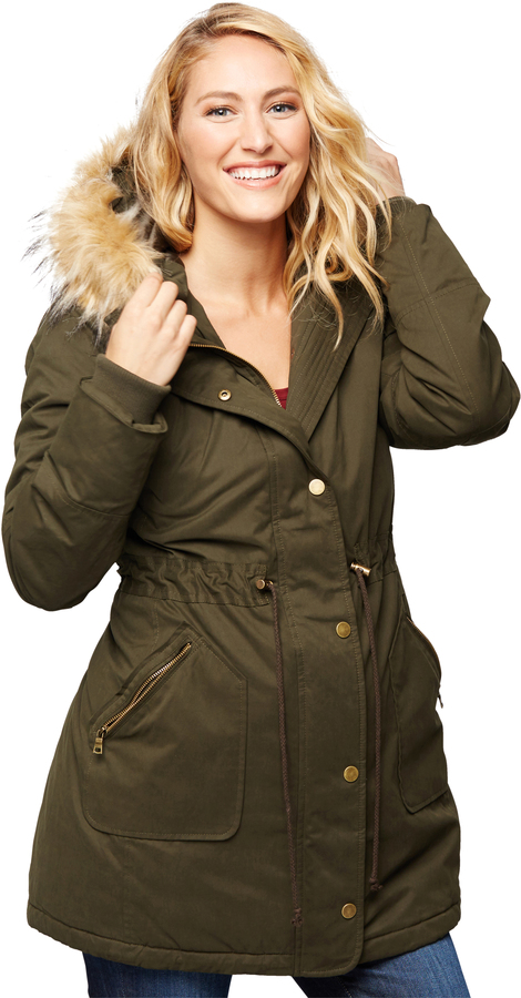 A Pea In The PodFaux Fur Faux Fur Maternity Coat