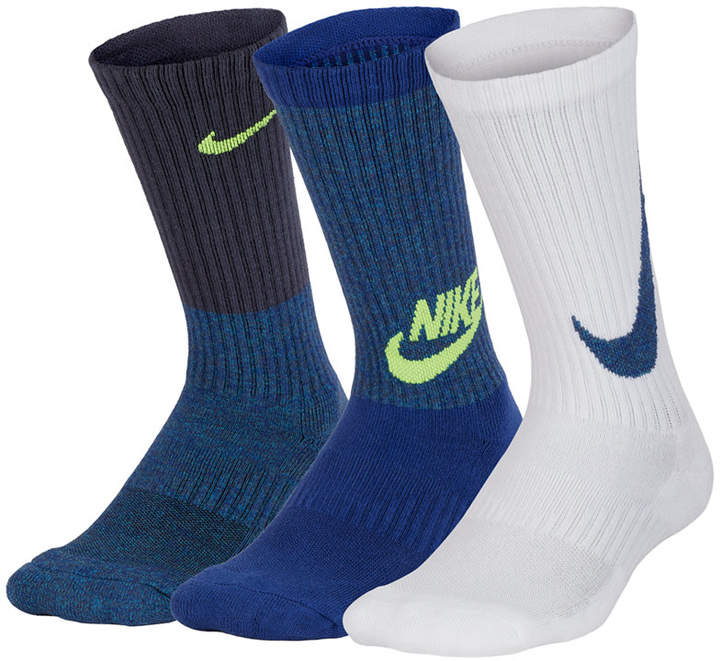 3-Pack Cushioned Crew Socks, Big Boys