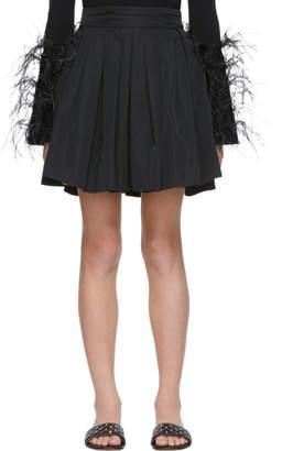 Valentino Black Faille Pleated Skirt