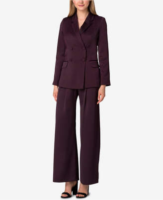 Tahari ASL Double-Breasted Wide-Leg Pantsuit, Regular & Petite