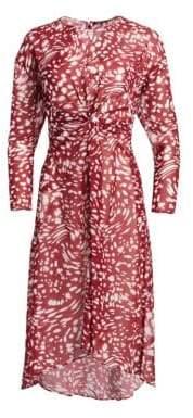 Maje Twist Printed Sheath Dress