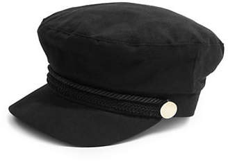 Topshop Cotton Trim Bakerboy Hat