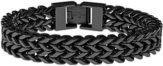 JCPenney FINE JEWELRY Mens Black Ion-Plated Stainless Steel Braided Multi-Row Chain Bracelet