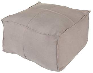 Surya Solid Linen Cube Pouf