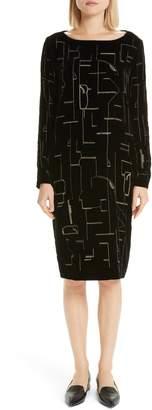 Lafayette 148 New York Cressida Embellished Velvet Dress