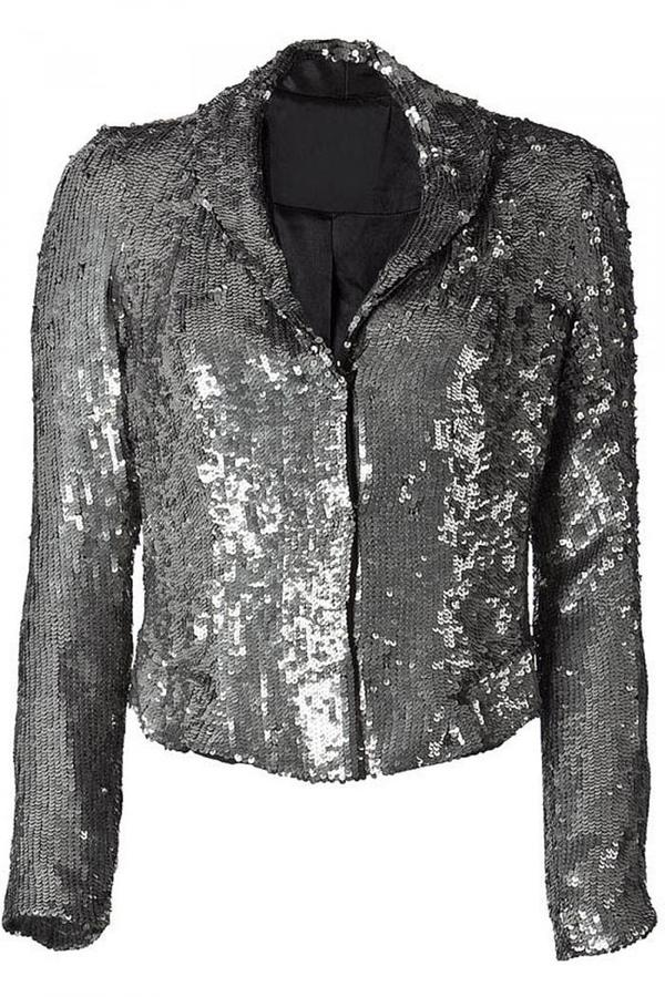 Gryphon Silver All Over Sequined Short Jacket