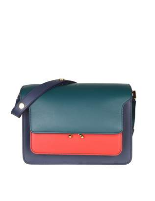 Marni Bag Trunk Bag In Leather Color Green Blue And Red