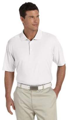 adidas Men's climalite Short-Sleeve Pique Polo - WHITE/ BLACK - L A121
