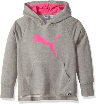 Puma Big Girl's Girls' Cat Hoodie Sweater, gray heather