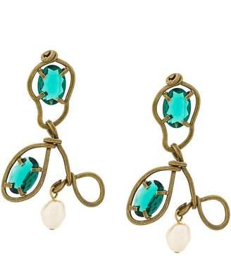 Marni abstract chandelier earrings