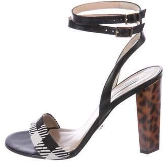 Diane von Furstenberg Printed Ankle-Strap Sandals