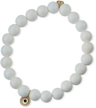 Sydney Evan 14k Diamond & Enamel Evil Eye Bead Bracelet