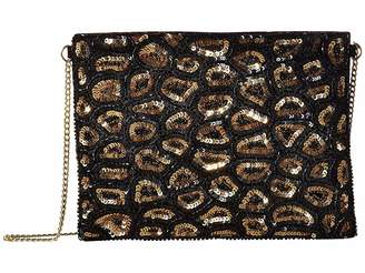 San Diego Hat Company BSB3548 Sequin Animal Print Clutch with Gold Chain Strap