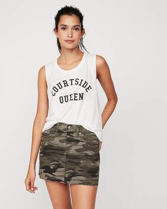 Express Courtside Queen Graphic Muscle Tank