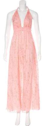 LoveShackFancy Star Print Maxi Dress