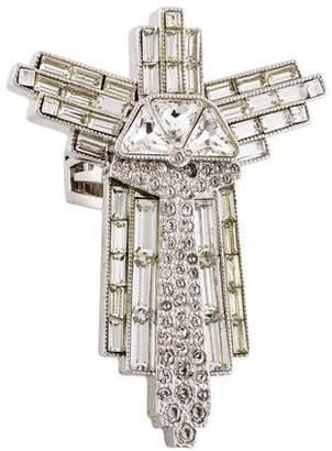 Versace Oversize Cross Ring