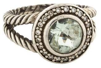 David Yurman Prasiolite & Diamond Albion Cocktail Ring