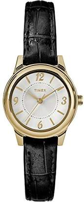 Timex Women's TW2R86100 Basics 26mm Croco Pattern Leather Strap Watch